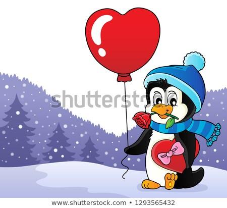 Cute Валентин пингвин изображение закрывается искусства Сток-фото © clairev