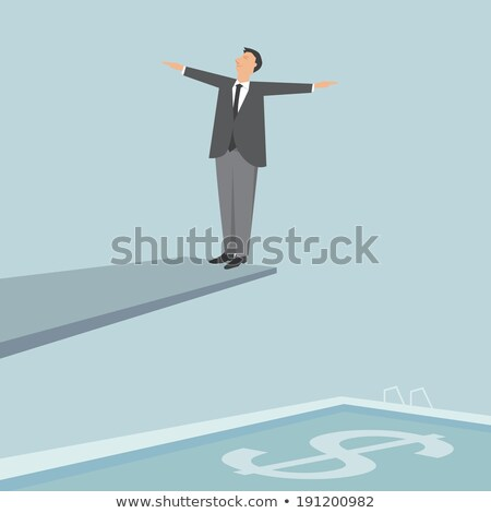 Businessman swims in a pool of money Stock photo © alphaspirit
