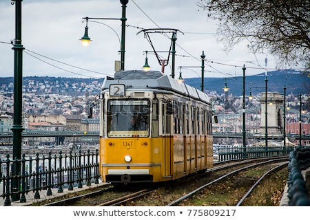 Yellow tram in Budapest Stock photo © Givaga