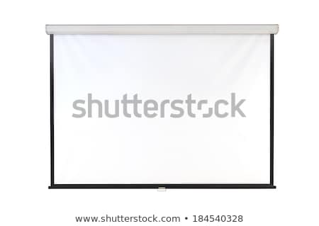 presentation empty projection screen whiteboard background frame stock photo © andrei_