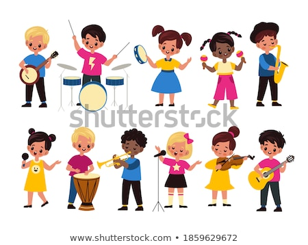 Trumpet Vector. Musical Child Instrument. Isolated Flat Cartoon Illustration Stock photo © pikepicture