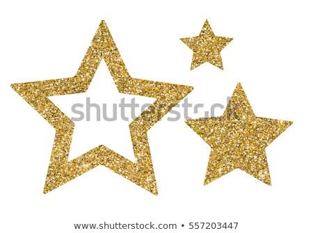 Blask star odizolowany metal podpisania złota Zdjęcia stock © adamson
