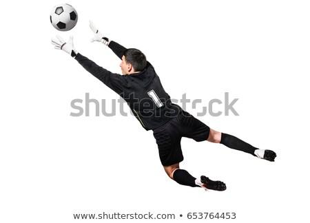 jóvenes · fútbol · portero · portero · pelota - foto stock © matimix
