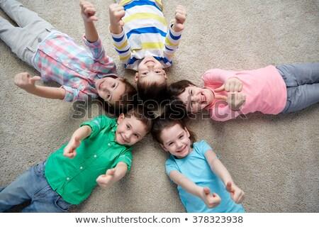 jovem · grupo · feliz · amigos - foto stock © dolgachov
