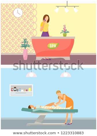 Spa salon receptie lichaam ingesteld Stockfoto © robuart