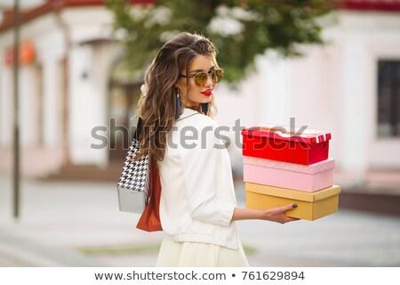 Kadın ayakkabı alışveriş Stok fotoğraf © studiolucky