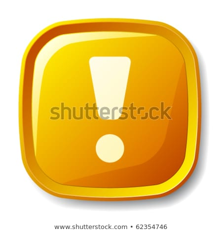 Colorful Shiny round button with Exclamation Mark Stock photo © Blue_daemon