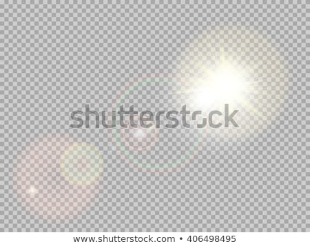 Vector sun light rays special effect. Glow transparent sunlight lens flare. Isolated flash spotlight Stock photo © Iaroslava