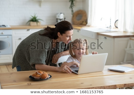 Stok fotoğraf: Happy Motherhood, Mother Caring for Child Website