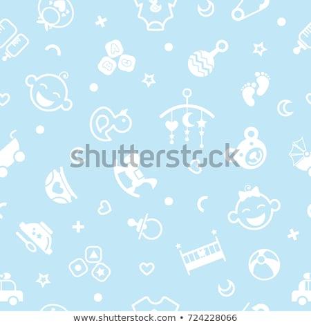 vector playing baby background stock photo © VetraKori