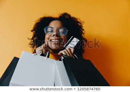 Geel kleding ingesteld meisje geld succes Stockfoto © toyotoyo