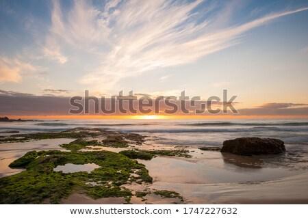 Gyönyörű napfelkelte hajóroncs kő kitettség természet Stock fotó © lovleah