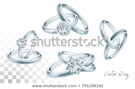 Round Diamond On Silver Or Platinum Ring Vector Stock photo © pikepicture