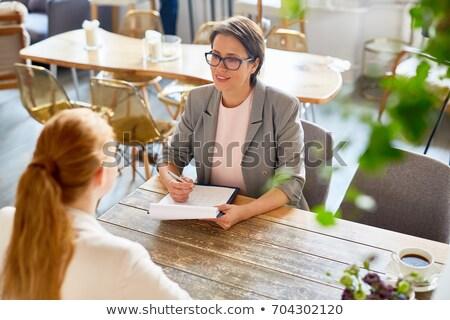 interview in restaurant stock photo © pressmaster