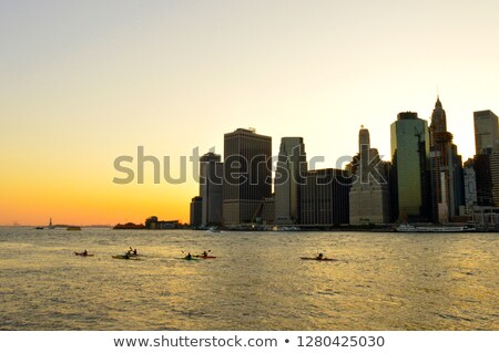 kayaking in new york city stock photo © unkreatives