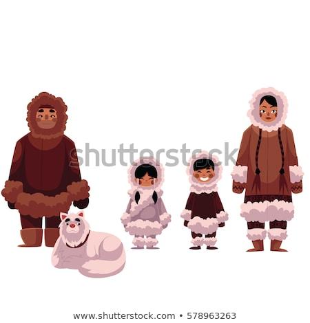 Vector set of eskimo characters Stock photo © netkov1