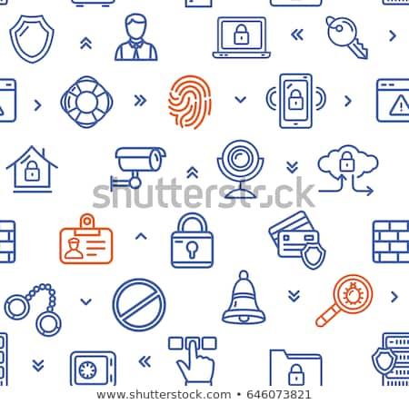 Vektor szett biztonsági kamera minta izolált fehér Stock fotó © netkov1