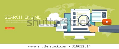 Search engines optimization app interface template. Stock photo © RAStudio