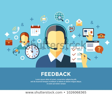 digital call center and customer support objects stock photo © frimufilms