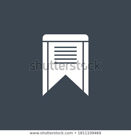 bookmark related vector glyph icon stock photo © smoki