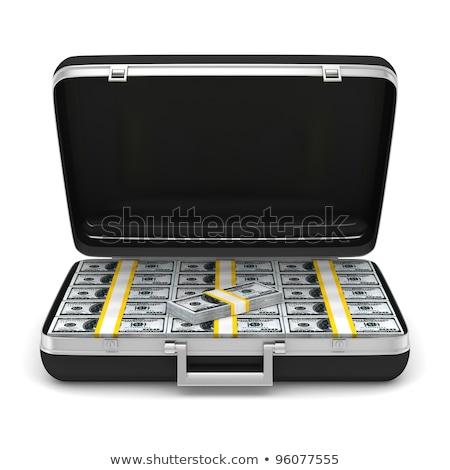 Caso numerário dinheiro branco isolado 3D Foto stock © ISerg