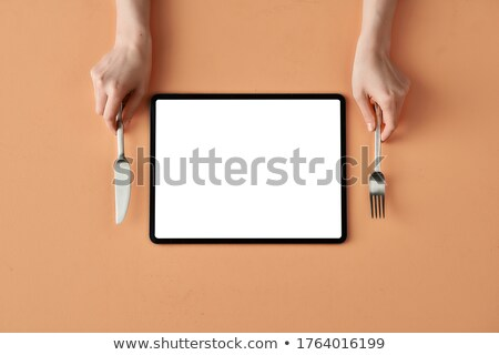 Tableware with tablet concept stock photo © ra2studio
