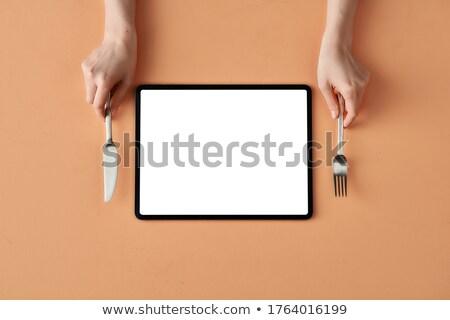 tafelgerei · tablet · stijlvol · wijn · home · achtergrond - stockfoto © ra2studio