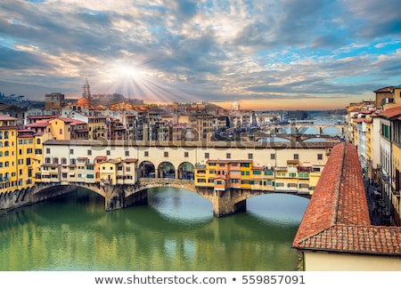 view of florence with ponte vecchio italy stock photo © borisb17