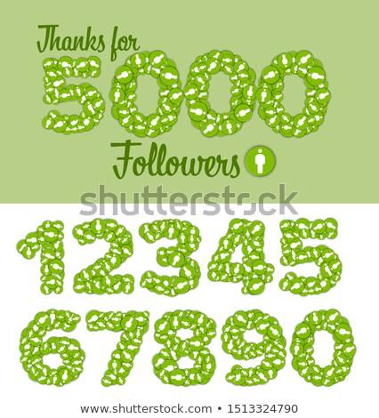 Gracias estado etiqueta plantilla personalizable números Foto stock © orson