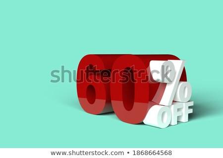 zestig · procent · witte · geïsoleerd · 3d · illustration · geld - stockfoto © iserg