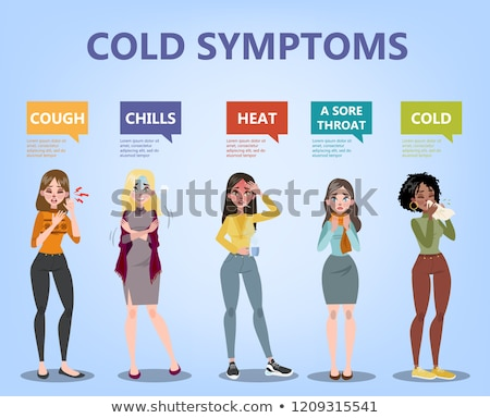 cold and flu treatment flat icons stock photo © vectorikart