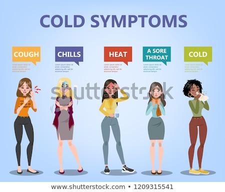 Hideg influenza kezelés ikonok vektor fogalmak Stock fotó © vectorikart