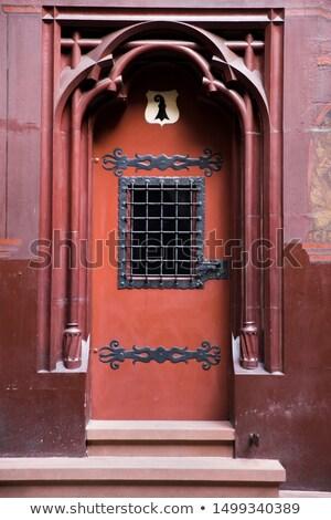 красный двери ратуша Швейцария мнение здании Сток-фото © boggy