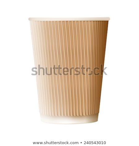 fehér · papír · kávéscsésze · ikon · gyűjtemény · kávé · teáscsésze - stock fotó © cidepix
