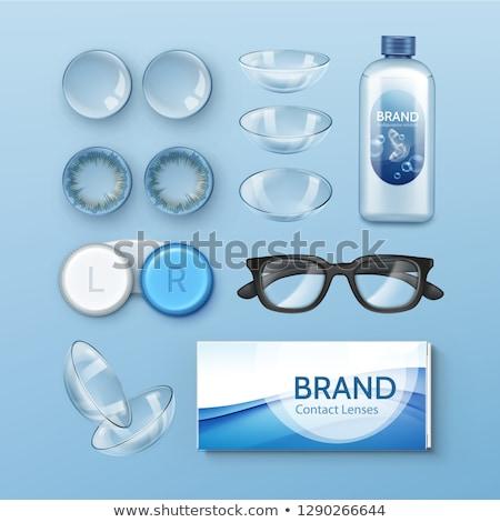 Okulary wizji korekta kolor wektora retro Zdjęcia stock © pikepicture