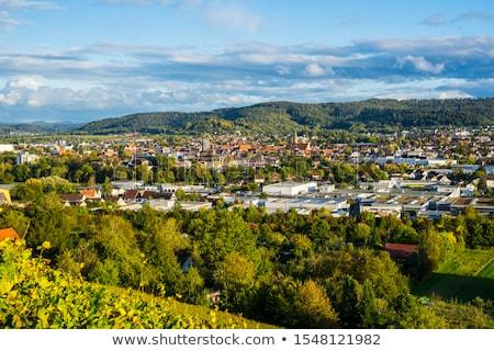 Vista colina Alemania cielo edificio ciudad Foto stock © borisb17