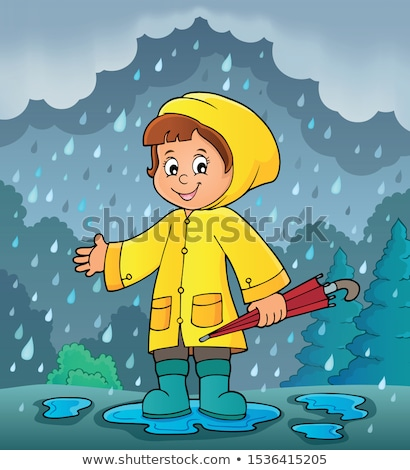 Girl in rainy weather theme image 2 Stock photo © clairev