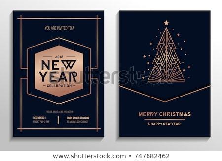 Goud muziek boom vector kerstboom Stockfoto © beaubelle