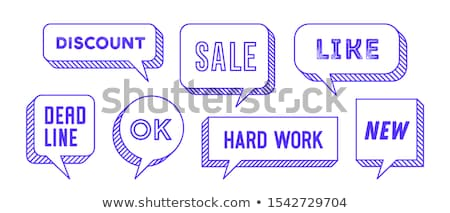 Foto stock: Speech Bubble Set Of 3d And 2d Line Speech Bubble