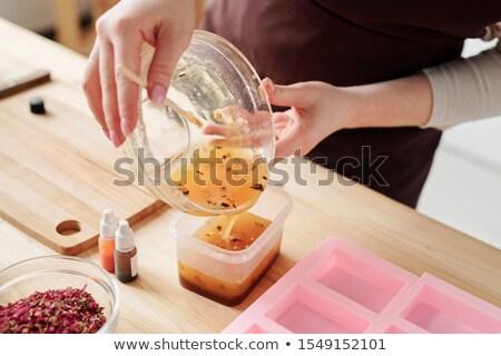 citromok · nagy · tál · asztal · konyhaasztal · gyümölcs - stock fotó © pressmaster
