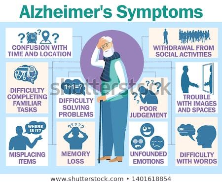 Doença paciente balão de pensamento médico cérebro Foto stock © RAStudio