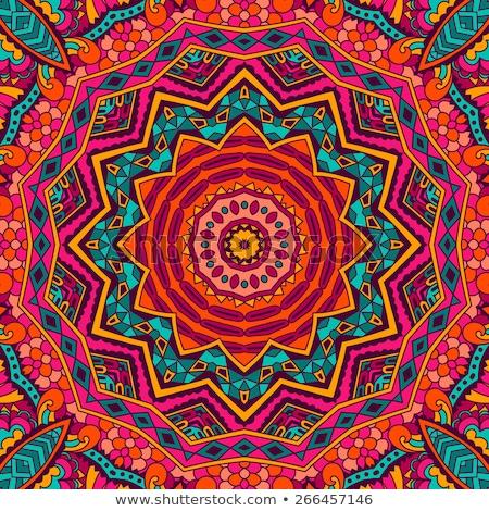 Psicodélico mandala geométrico cor legal estilo Foto stock © jeff_hobrath