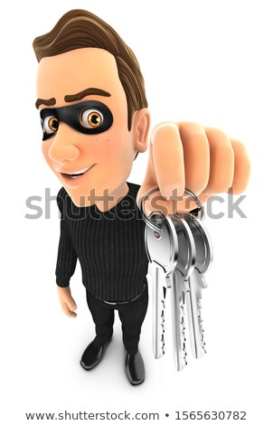 3d thief holding a bunch of keys Stock photo © 3dmask