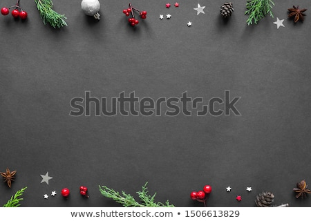 Christmas dark background with chalkboard Stock photo © furmanphoto
