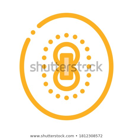 Cricket Field Markup Icon Vector Outline Illustration stock photo © pikepicture
