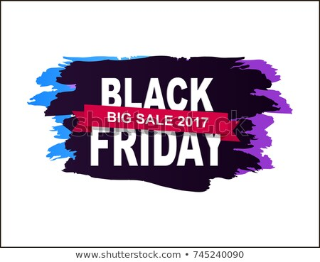 Black Friday Big Sale 2017 Pink Banner Vector Stock photo © robuart