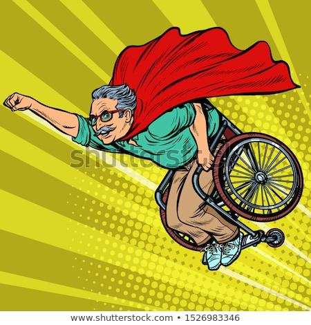 Homem aposentados inválido cadeira de rodas saúde Foto stock © studiostoks