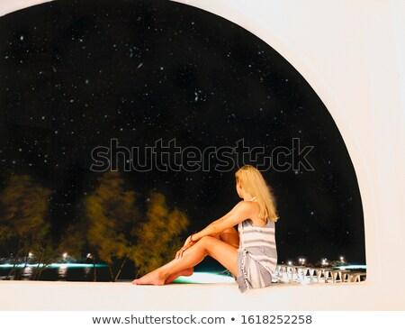 若い女性 見える 空 星 ドレス ストックフォト © dashapetrenko