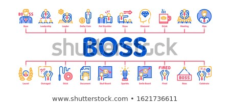 Boss Leader Company Minimal Infographic Banner Vector Stock photo © pikepicture