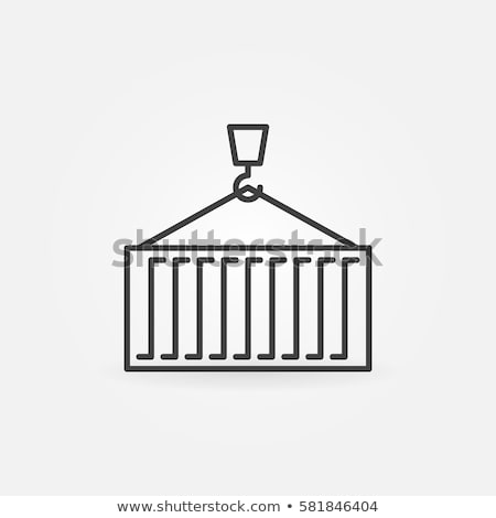 Cargo Containers Icon Vector Outline Illustration Stock photo © pikepicture